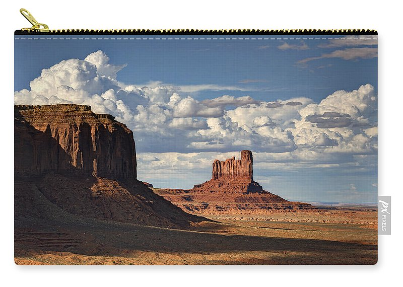 Monument Valley Carry-all Pouch featuring the photograph A Monumental Morning by Saija Lehtonen
