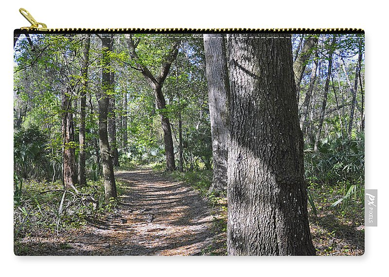 Landscapes Carry-all Pouch featuring the photograph A Nature Walk by Deborah Good