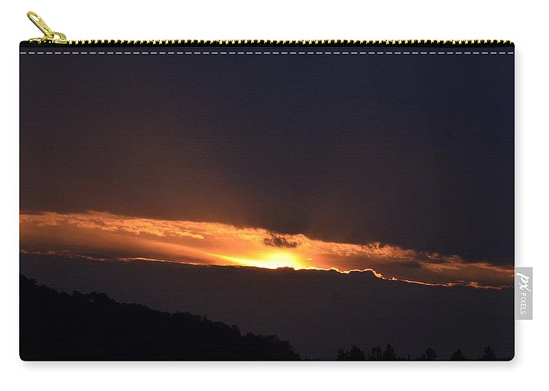 A New Day Dawning Carry-all Pouch featuring the photograph A New Day Dawning by Maria Urso