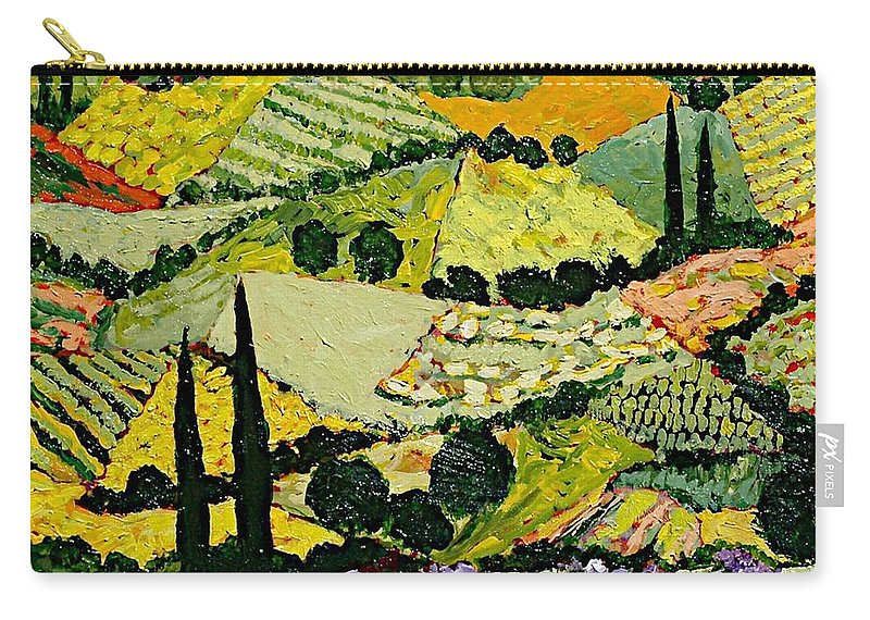Landscape Carry-all Pouch featuring the painting A New Season by Allan P Friedlander
