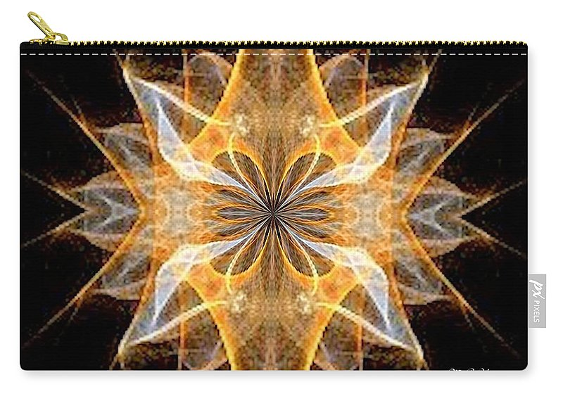 A New Year's Star 2014 Carry-all Pouch featuring the digital art A New Year's Star 2014 by Maria Urso