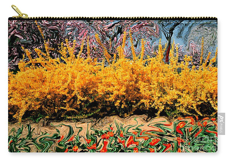 Spring Carry-all Pouch featuring the photograph A Painting Springtime 2 Dali-style by Mike Nellums