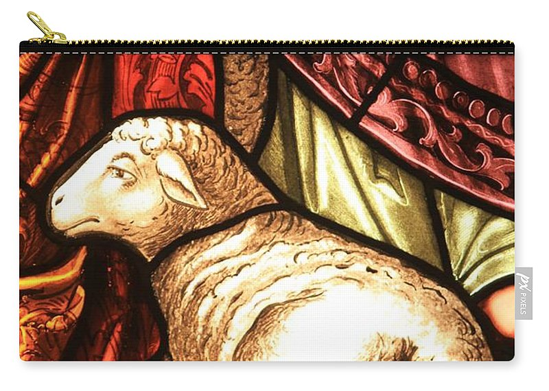 Lambs Carry-all Pouch featuring the photograph A Pair Of Lambs by Adam Jewell