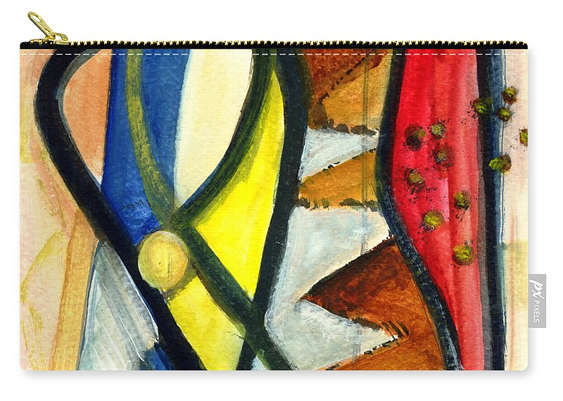 Abstract Art Carry-all Pouch featuring the painting A Perfect Image by Stephen Lucas