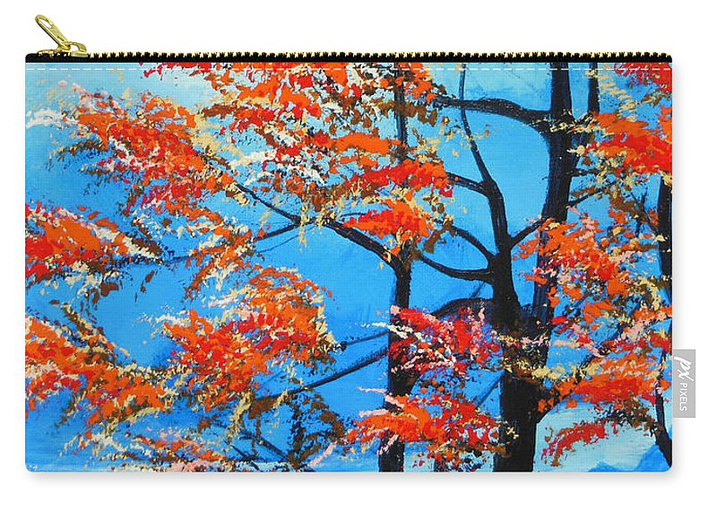 Forest Carry-all Pouch featuring the painting A Place To Get Away by Dan Whittemore