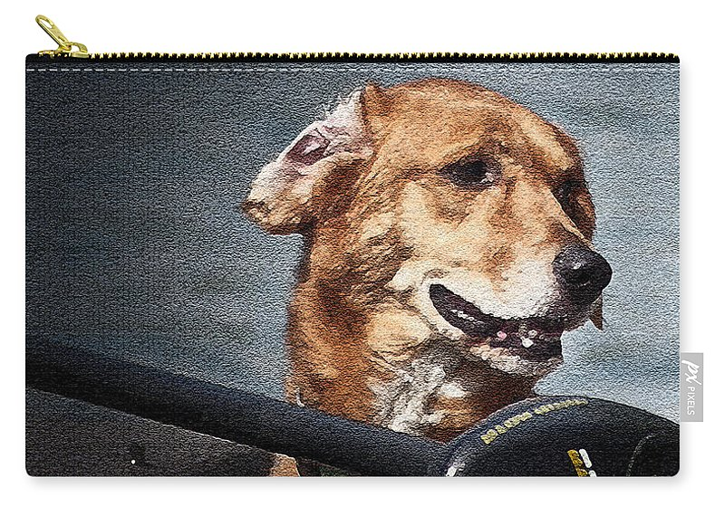 Dogs Carry-all Pouch featuring the photograph A Portrait Of A Golden Retriever by Deborah Klubertanz