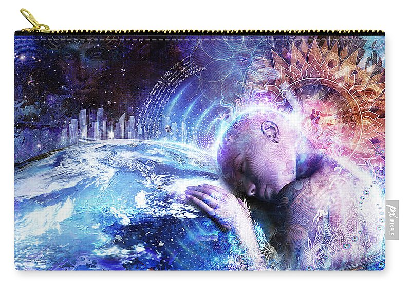 Cameron Gray Carry-all Pouch featuring the digital art A Prayer For The Earth by Cameron Gray
