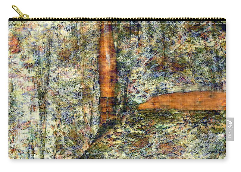 Antiques Carry-all Pouch featuring the painting A Profusion Of Chintz by RC DeWinter