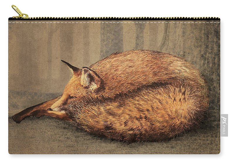 Fox Carry-all Pouch featuring the drawing A Quiet Place by Eric Fan