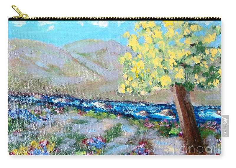 Landscapes Carry-all Pouch featuring the painting A Quiet Place by Laurie Morgan