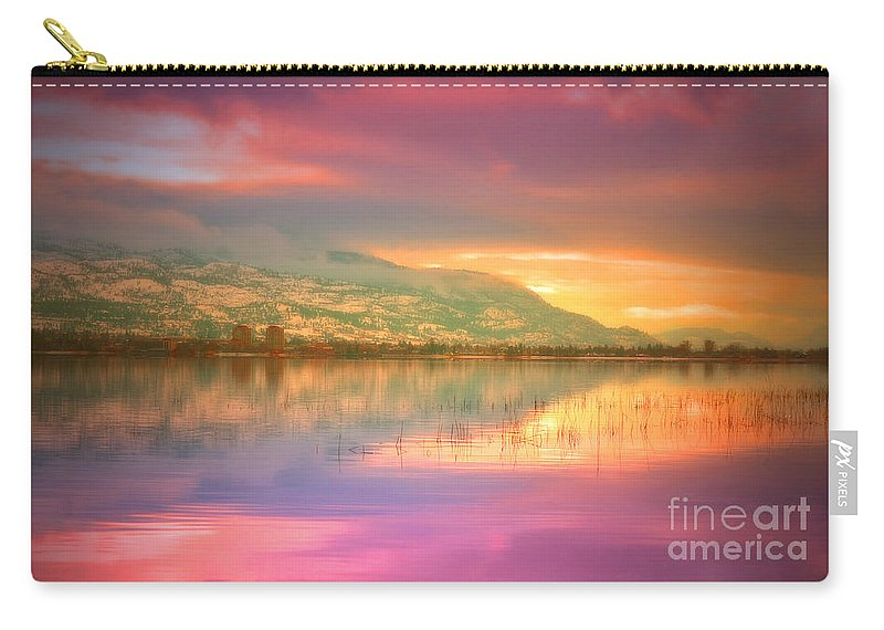 Sky Carry-all Pouch featuring the photograph A Rainbow Morning by Tara Turner