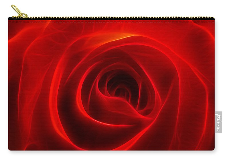 Flower Carry-all Pouch featuring the photograph A Rose By Any Other Name by Ricky Barnard