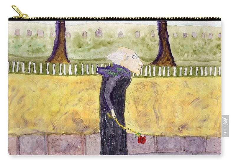 Jim Taylor Carry-all Pouch featuring the painting A Rose For My Dear by Jim Taylor
