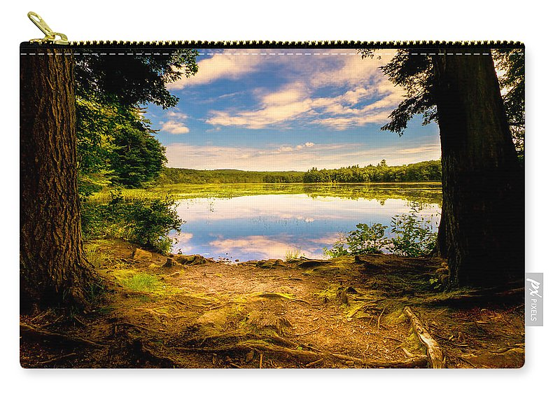 Landscape Carry-all Pouch featuring the photograph A Secret Place by Bob Orsillo