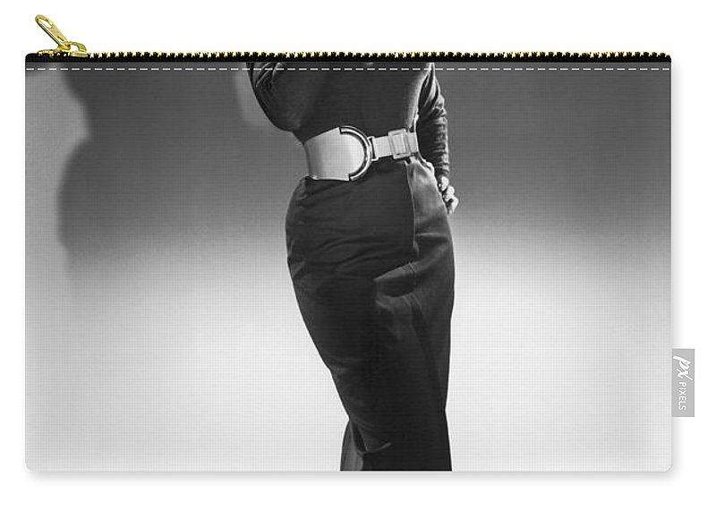 1950's Carry-all Pouch featuring the photograph A Seductive Woman by Underwood Archives