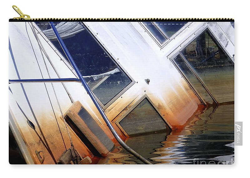 Boat Carry-all Pouch featuring the photograph A Sinking Feeling by Ed Weidman