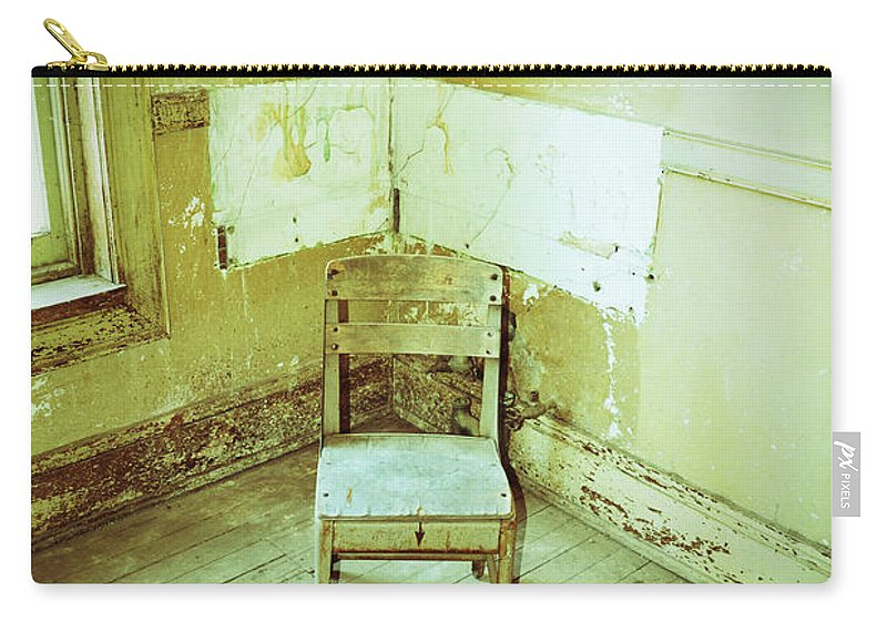 Building Carry-all Pouch featuring the photograph A Small Chair by Holly Blunkall