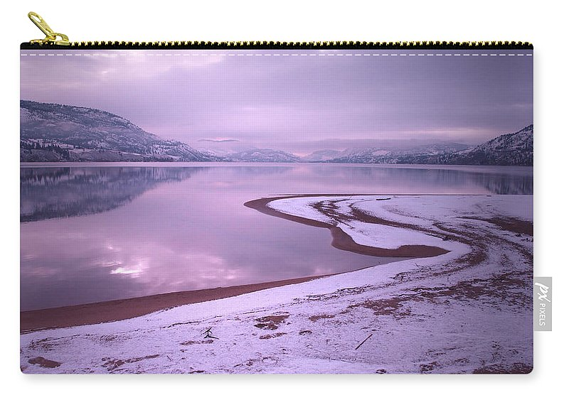 Winter Carry-all Pouch featuring the photograph A Snowy Shore by Tara Turner