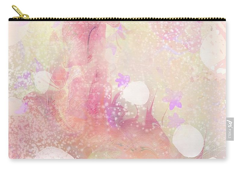 Landscape Carry-all Pouch featuring the digital art A Sparrow Sings Alone by Rachel Christine Nowicki
