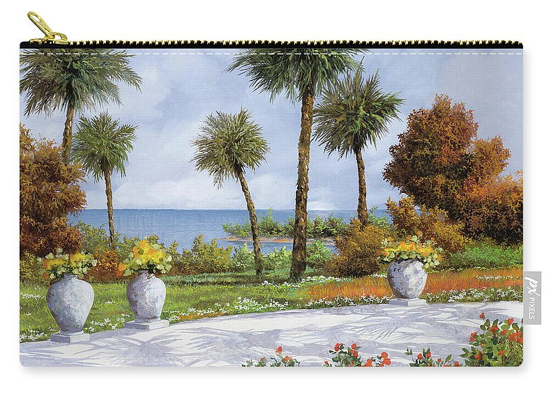 Palm Carry-all Pouch featuring the painting A Spasso Tra Le Palme by Guido Borelli