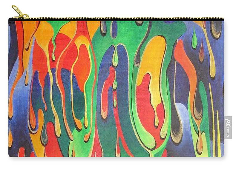Surrealism Carry-all Pouch featuring the painting A Splash Of Paint by Taiche Acrylic Art