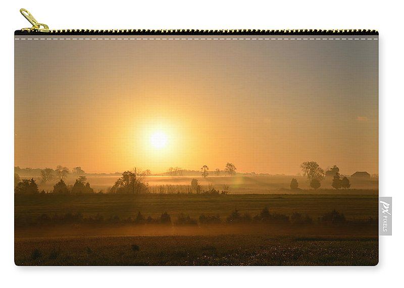 Spring Carry-all Pouch featuring the photograph A Spring Morning At Gettysburg by Bill Cannon