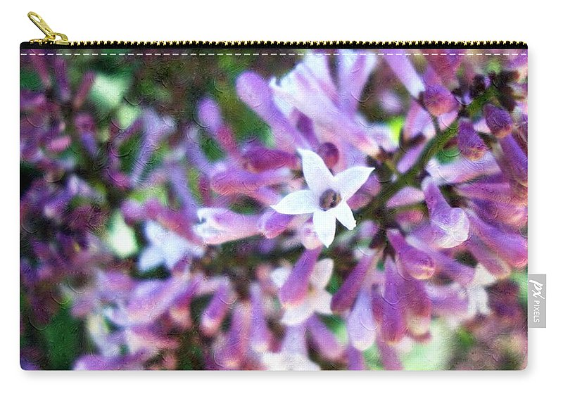 Floral Carry-all Pouch featuring the photograph A Star Is Born by Annie Adkins