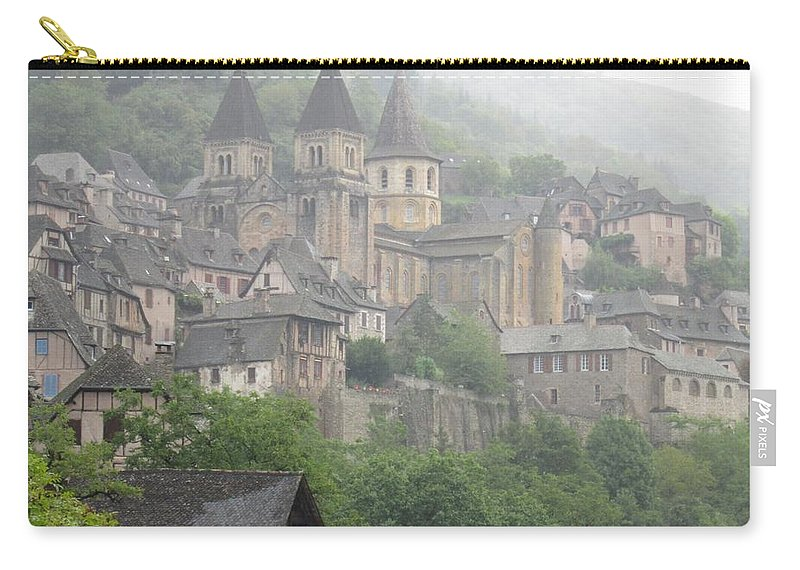 Conques Carry-all Pouch featuring the photograph A Step Back In Time by Mary Ellen Mueller Legault