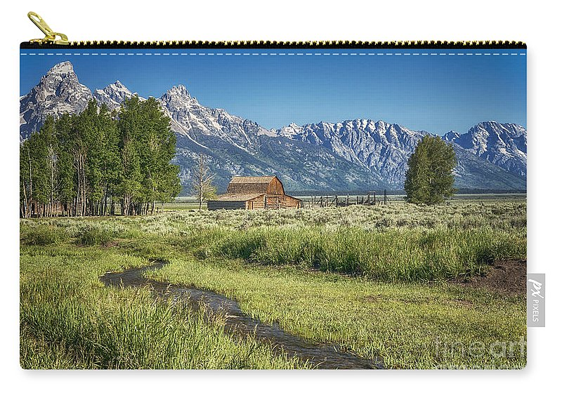 Barn Carry-all Pouch featuring the photograph A Stream Runs Through by Claudia Kuhn