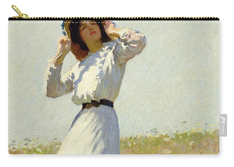 Woman Carry-all Pouch featuring the painting A Summe's Day by William Henry Margetson