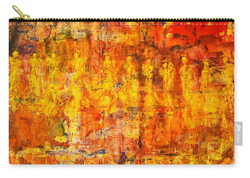 Angels Carry-all Pouch featuring the painting A Sunset Of Angels by Giorgio Tuscani