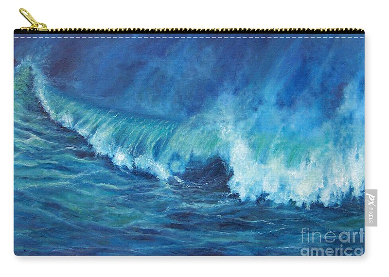 Ocean Carry-all Pouch featuring the painting A Surfer's Dream by Alina Martinez-beatriz