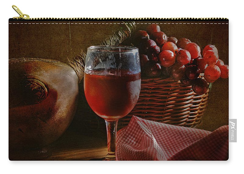 Alcohol Carry-all Pouch featuring the photograph A Taste Of The Grape by David and Carol Kelly