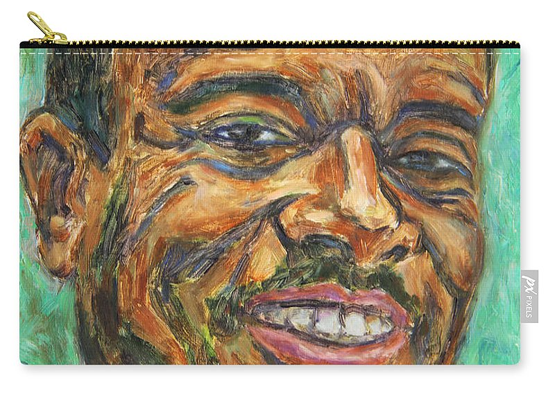 African American Carry-all Pouch featuring the painting A Teacher From Atlanta Ga by Xueling Zou