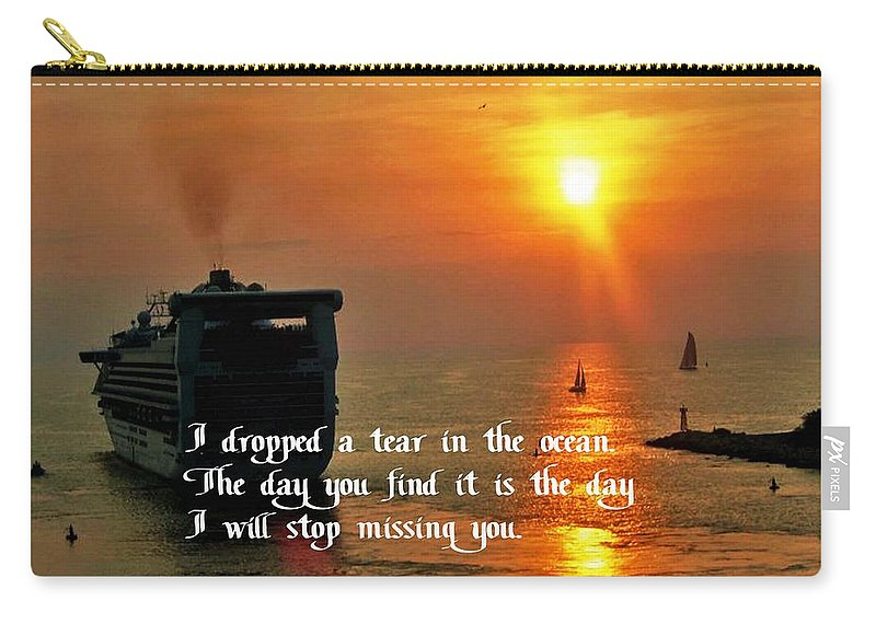 Cruise Carry-all Pouch featuring the photograph A Tear In The Ocean by Gary Wonning