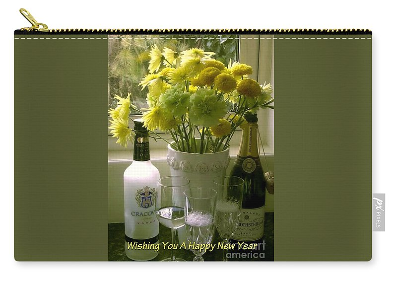 Toast Of Champagne Carry-all Pouch featuring the photograph A Toast Of Cheers For The New Year by Joan-Violet Stretch
