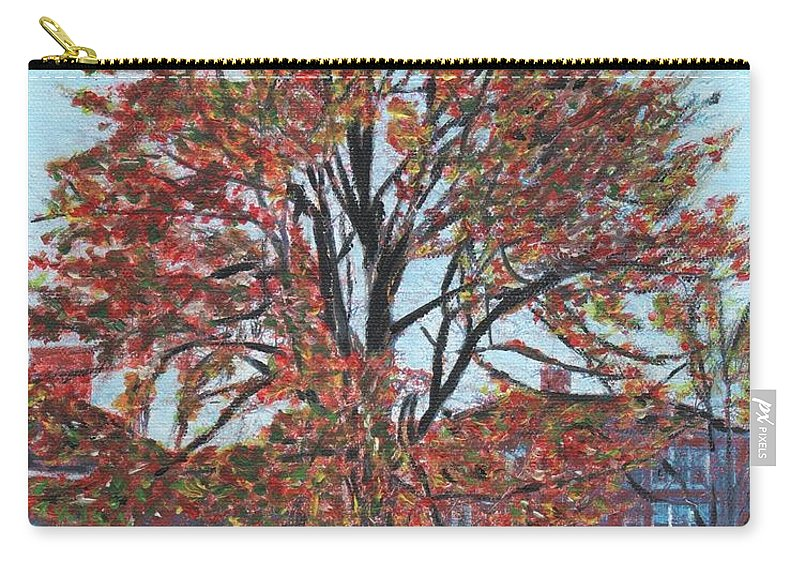 Tree Carry-all Pouch featuring the painting A Tree In Sherborn by Cliff Wilson
