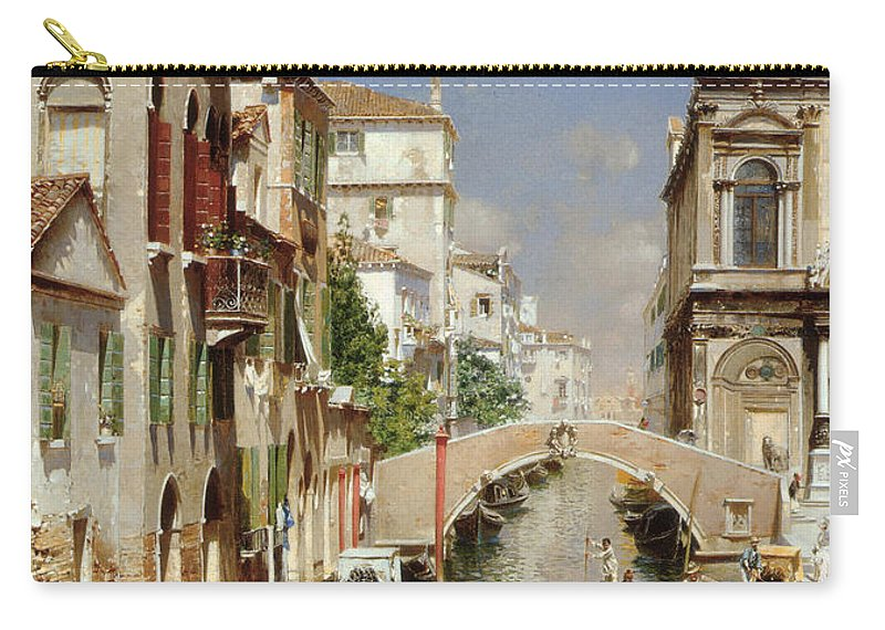Rubens Santoro Carry-all Pouch featuring the digital art A Venetian Canal by Rubens Santoro