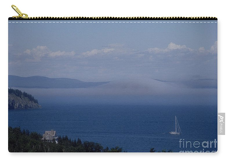 Acadia Carry-all Pouch featuring the photograph A View From Acadia by Darleen Stry