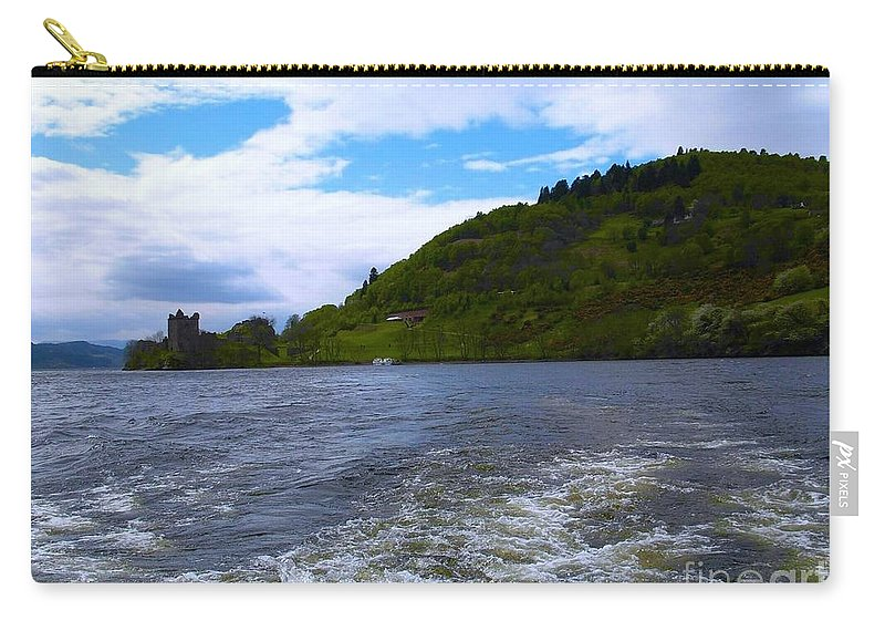 Urquhart Castle Carry-all Pouch featuring the photograph A View Of Urquhart Castle by Joan-Violet Stretch