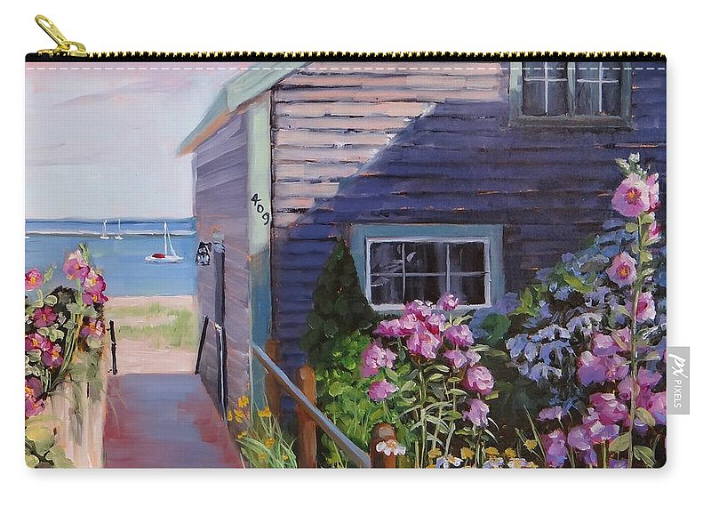 Laura Zanghetti Carry-all Pouch featuring the painting A Visit To P Town Two by Laura Lee Zanghetti