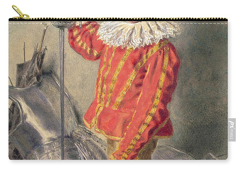 Child Carry-all Pouch featuring the drawing A Warrior Bold by William Henry Hunt
