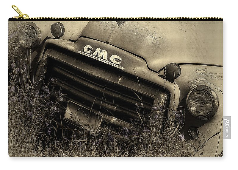 Gmc Carry-all Pouch featuring the photograph A Weather-beaten Classic by John Vose