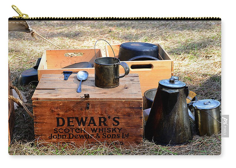 Camp Carry-all Pouch featuring the photograph A Well Stocked Camp by David Lee Thompson