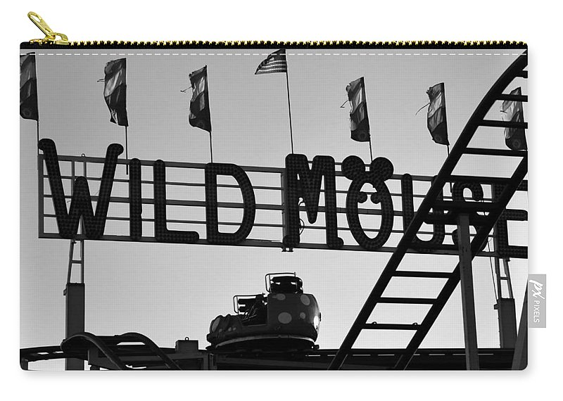 Wild Mouse Ride Carry-all Pouch featuring the photograph A Wild Ride by David Lee Thompson