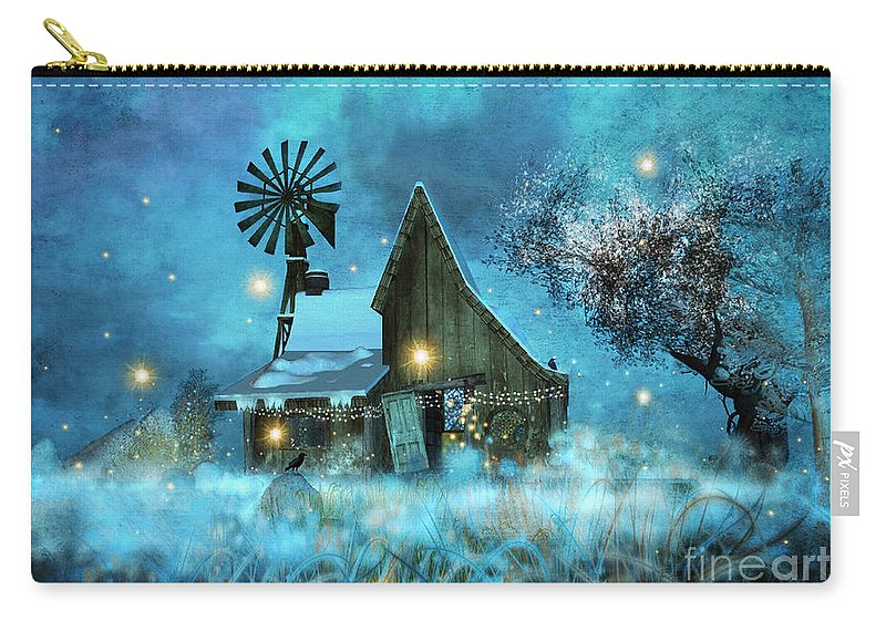 Nature Carry-all Pouch featuring the digital art A Winter Fairytale by Carlotta Ceawlin