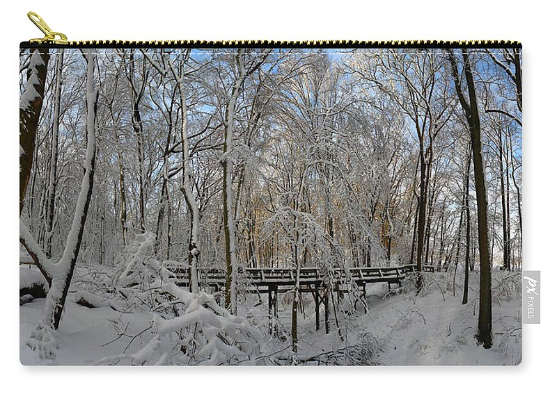 Salani Carry-all Pouch featuring the photograph A Winter Scene by Raymond Salani III