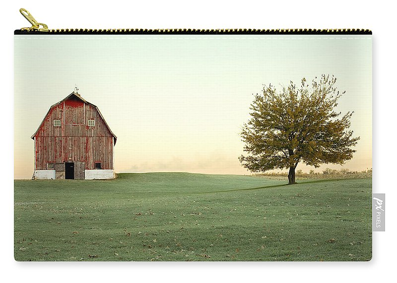 Barn Carry-all Pouch featuring the photograph A Wisconsin Postcard by Todd Klassy