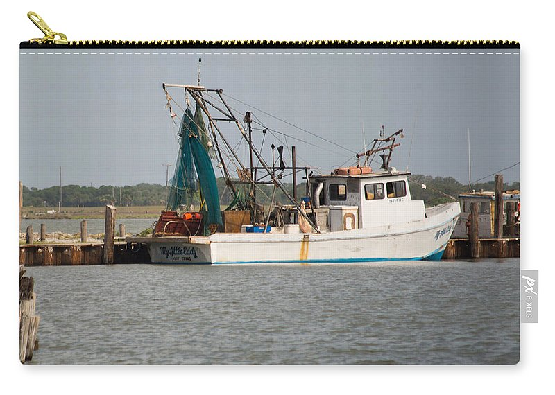 Texas Carry-all Pouch featuring the photograph Seadrift Texas Working Boat by JG Thompson