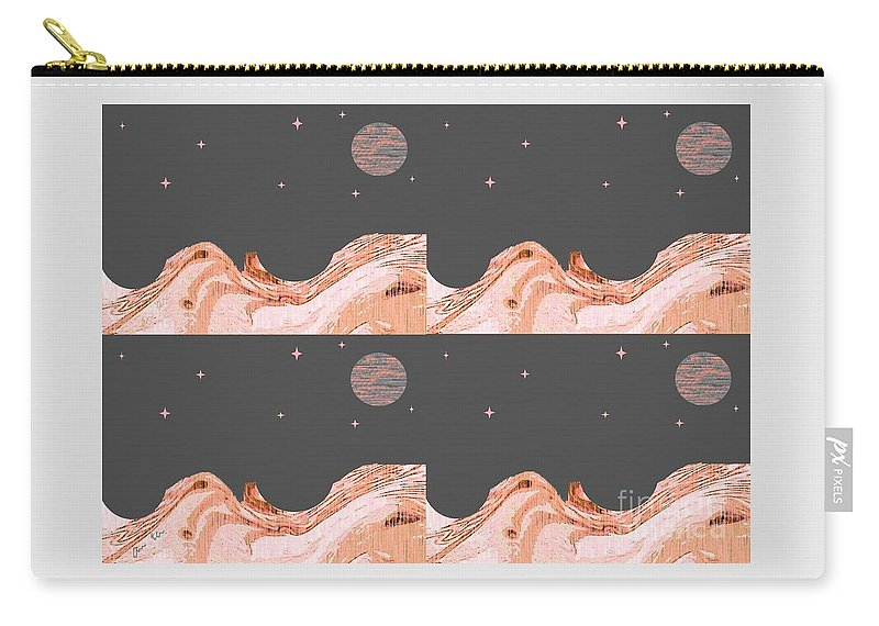 World Carry-all Pouch featuring the digital art A World Untouched by Ann Calvo